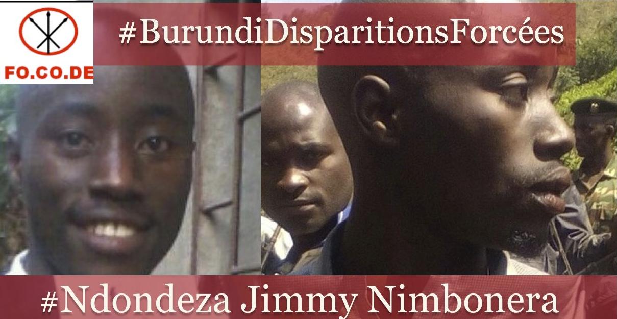 La disparition forcée de Monsieur Jimmy NIMBONERA