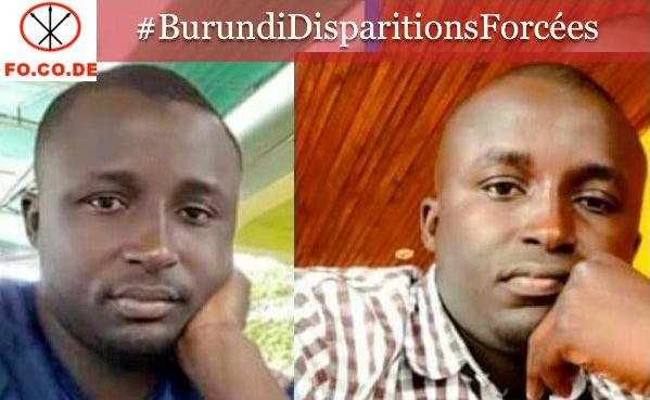 Les autorités burundaises doivent faire la lumière sur la disparition forcée des jumeaux BUKURU SHABANI et BUTOYI SHABANI  introuvables depuis le 27 Novembre 2016