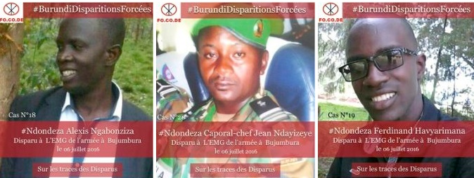 Enforced disappearance of Alexis NGABONZIZA, Ferdinand HAVYARIMANA and Corporal-Chef Jean NDAYIZEYE